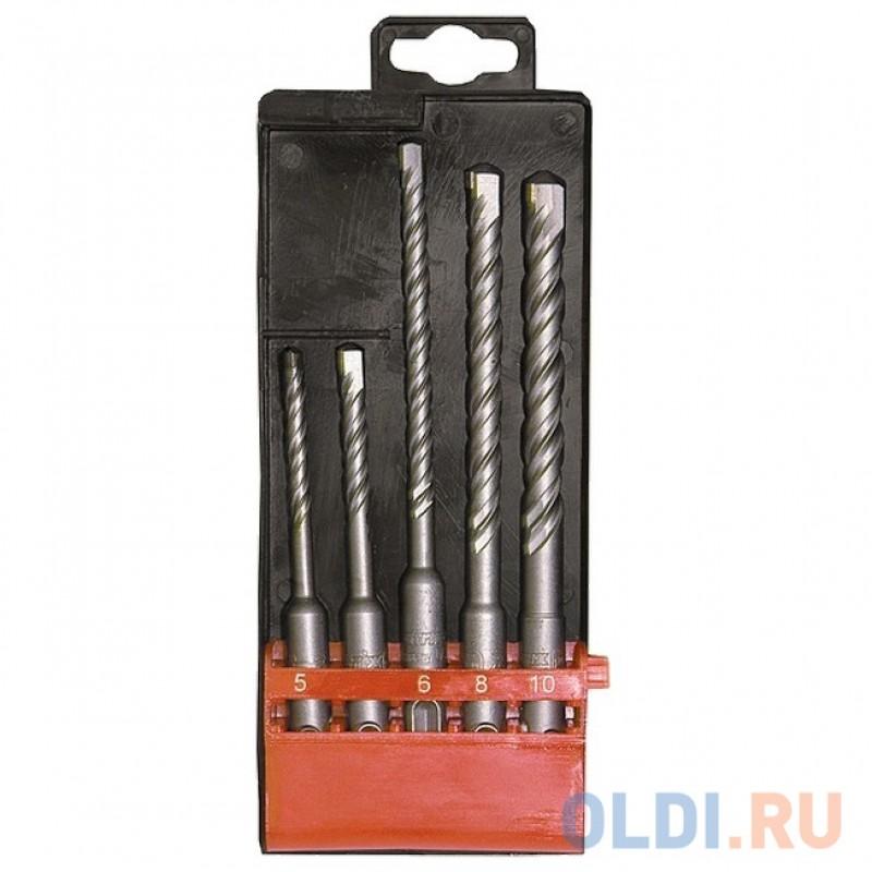 Набор буров по бетону, 5-6х110, 6-8-10х160 мм, 5 шт., в пласт. коробке, SDS PLUS// Matrix