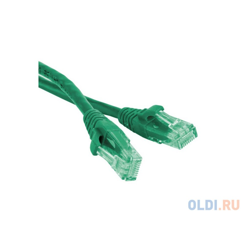 Патч-корд UTP 5E категории 2.0м Hyperline PC-LPM-UTP-RJ45-RJ45-C5e-2M-LSZH-GN зеленый