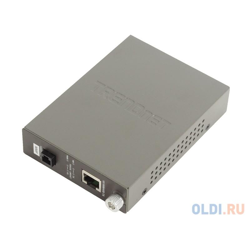 Медиаконвертер TRENDnet TFC-110MM Многомодовый оптоволоконный медиа-конвертер с оптическим портом 100Base-FX разъём MT-RJ, поддерживающим работу на ра