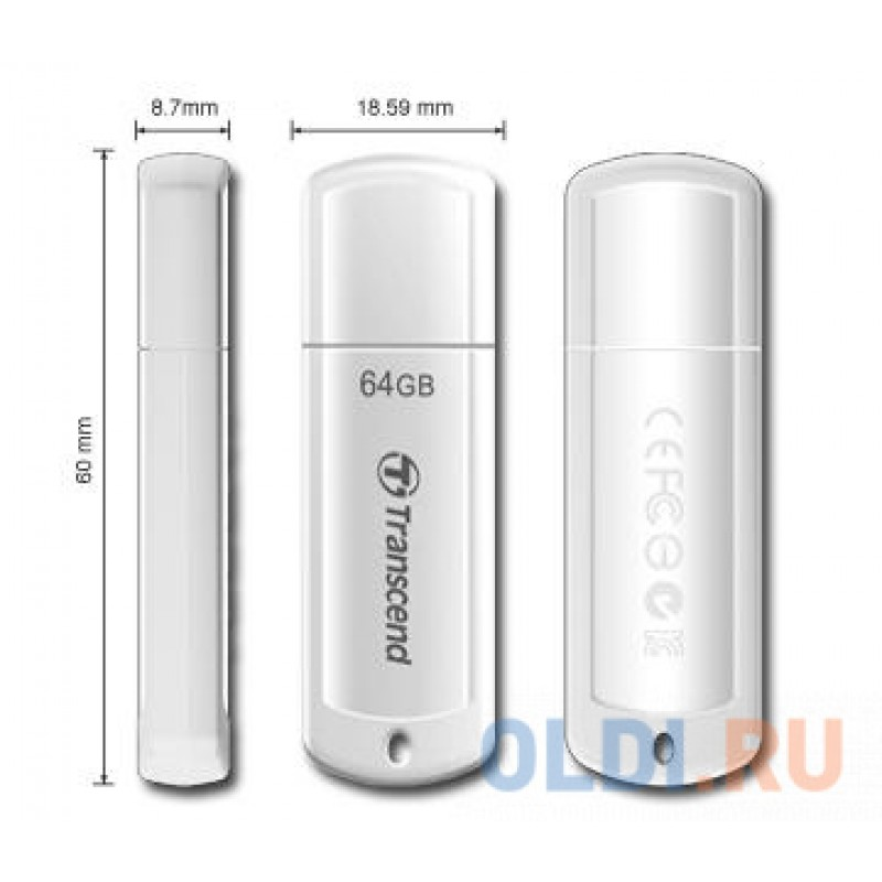 Внешний накопитель 64GB USB Drive <USB 2.0 Transcend 370 (TS64GJF370)