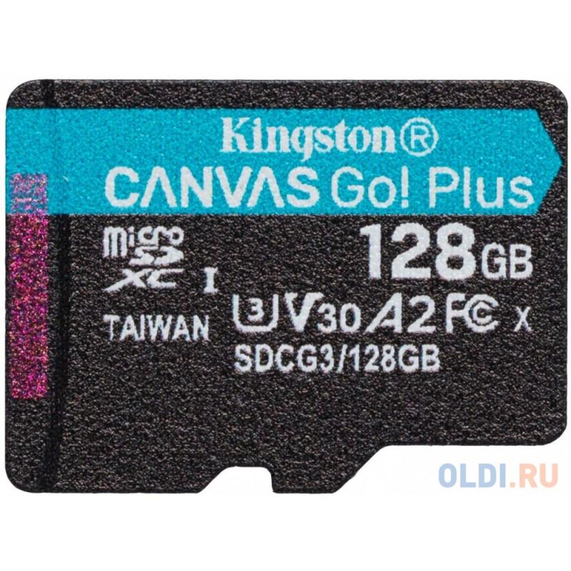 Kingston 128GB microSDXC Canvas Go Plus 170R A2 U3 V30 Single Pack w/o ADP EAN: 740617301243