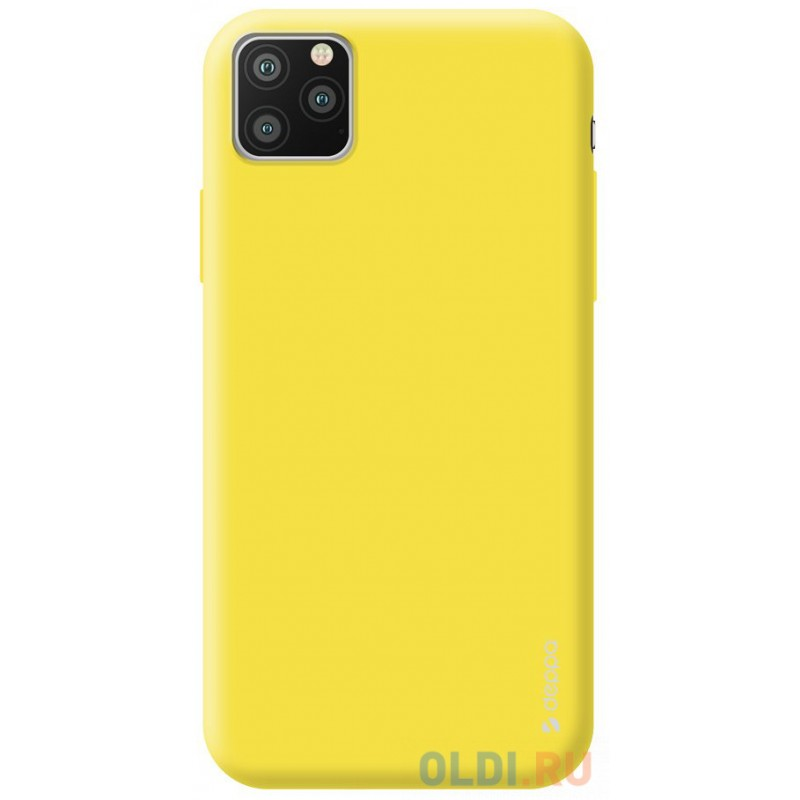 Чехол для смартфона для Apple iPhone 11 Pro Max Deppa Gel Color Case 87251 Yellow клип-кейс, полиуретан