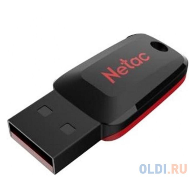 Флеш Диск Netac U197 64Gb <NT03U197N-064G-20BK>, USB2.0, пластиковая, черная