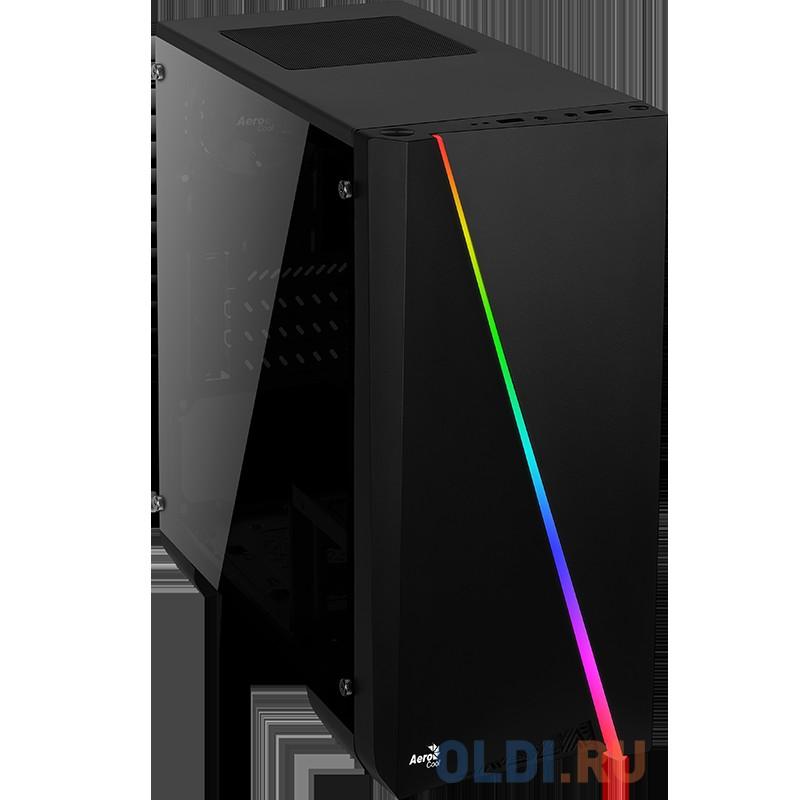 Корпус Aerocool [PGS-V] Cylon Mini , mATX, без БП, RGB подсветка, окно, 1x USB 3.0 + 1x USB 2.0