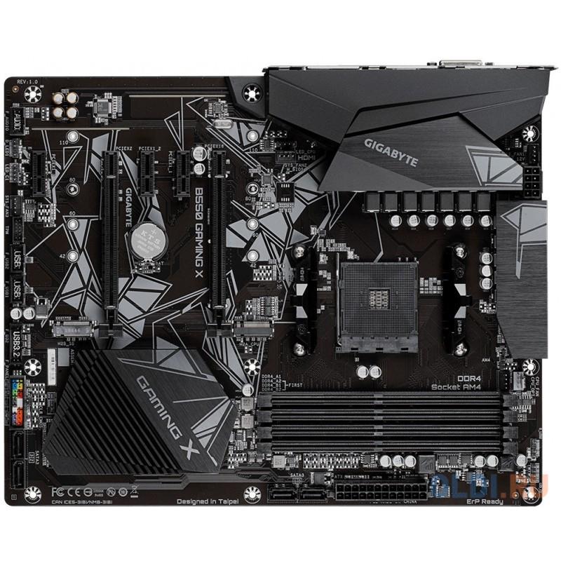 Материнская плата GigaByte B550 GAMING X Socket AM4 AMD B550 4xDDR4 2xPCI-E 16x 3xPCI-E 1x 9xSATA II 4 ATX Retail