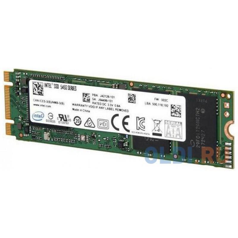 Твердотельный накопитель SSD M.2 512 Gb Intel 545s Read 550Mb/s Write 500Mb/s TLC