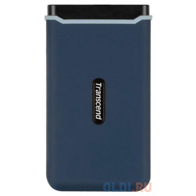 Портативный твердотельный накопитель Transcend ESD370C, USB 3.1 gen.2 / USB Type-C / USB Type-A, OTG, 500 Гб