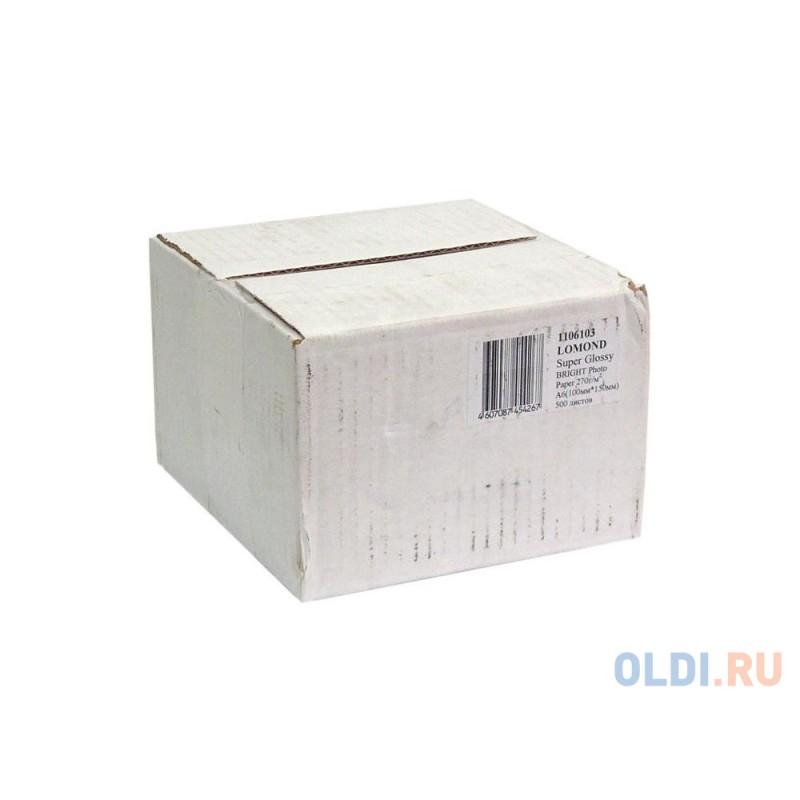 Фотобумага Lomond 10x15см 270г/м2 500л суперглянцевая для струйной печати 1106103