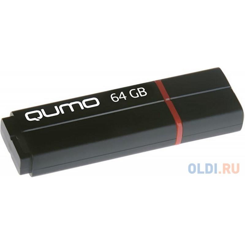 Флешка 64Gb QUMO QM64GUD3-SP-black USB 3.0 черный