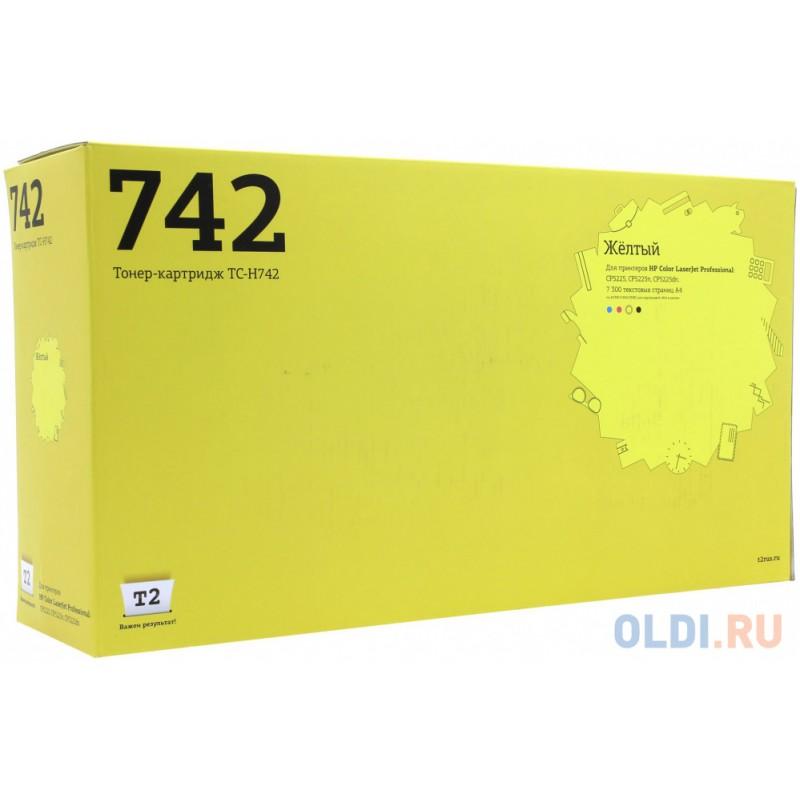 Картридж T2 CE742A 7000стр Желтый