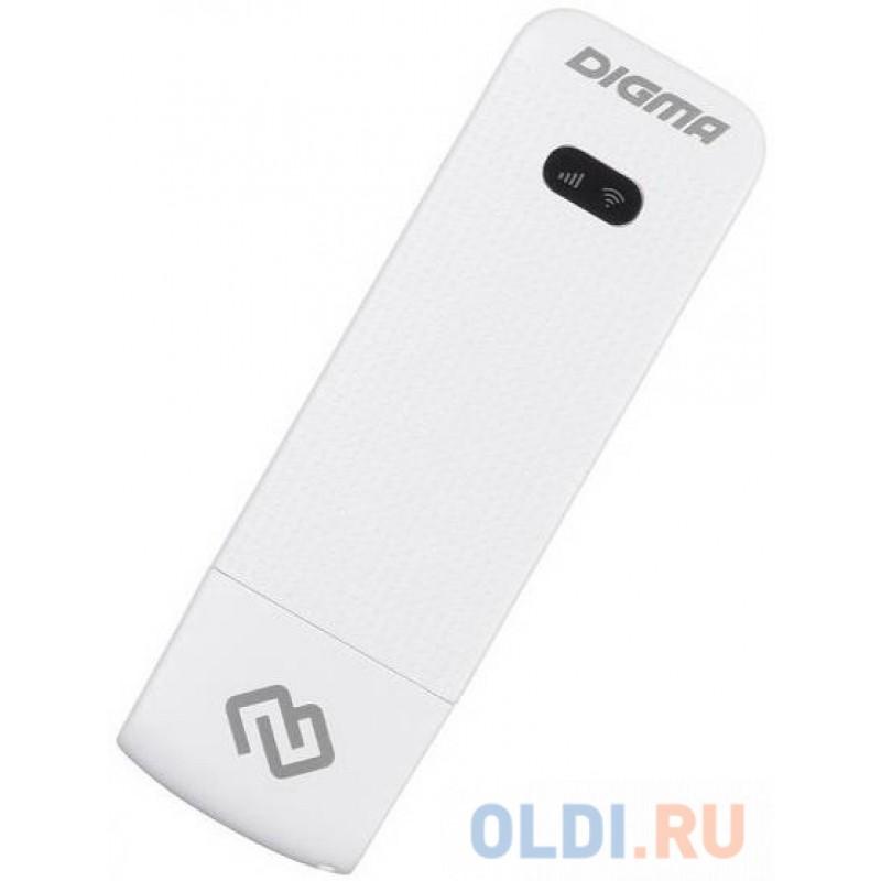Модем 3G/4G Digma Dongle USB Wi-Fi Firewall +Router внешний черный