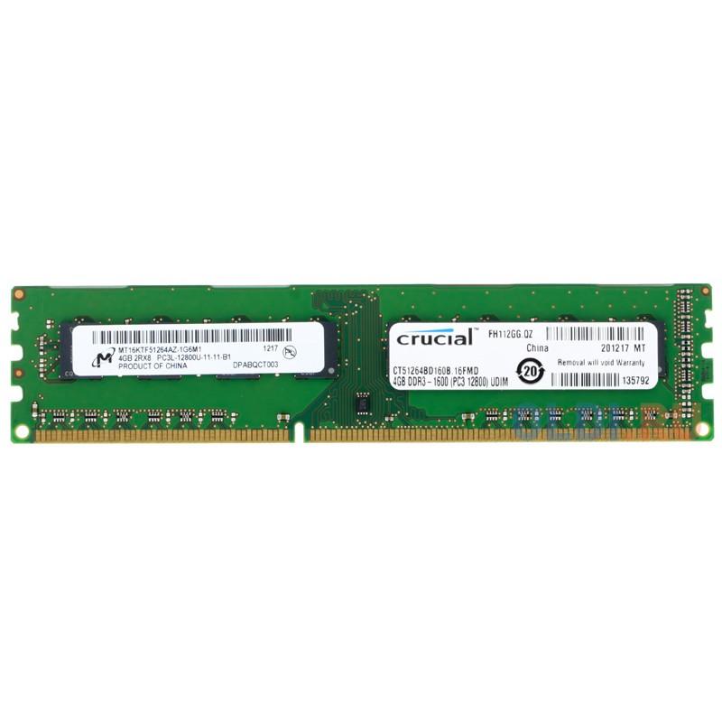 Оперативная память Crucial CT51264BD160B DIMM 4Gb DDR3L 1600MHz
