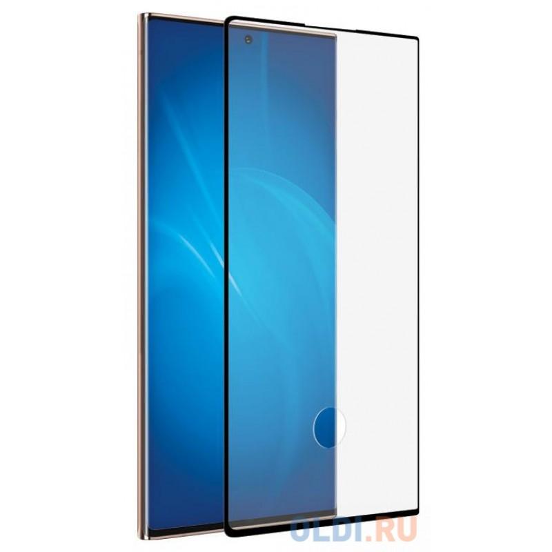 Закаленное стекло с цветной рамкой (fullscreen+fullglue) для Samsung Galaxy Note 20 DF sColor-106 (black)