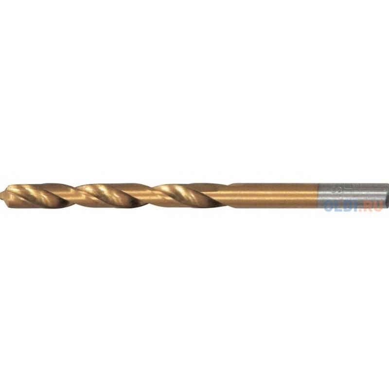 Сверло по металлу, 2,5 мм, HSS, нитридтитановое покрытие, цилиндрический хвостовик// Matrix