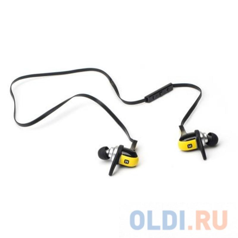 Наушники HARPER HB-308 / Беспроводные / Внутриканальные с микрофоном / желтый / 20 Гц - 20 кГц / 110 дБ / Двухстороннее / Bluetooth