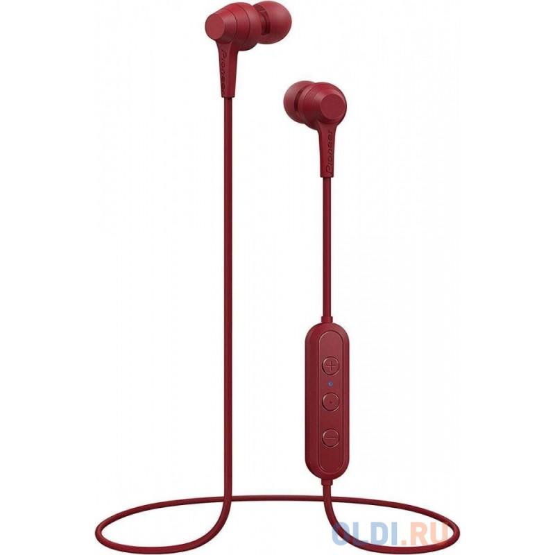 Гарнитура вкладыши Pioneer SE-C4BT-R красный беспроводные bluetooth (шейный обод)