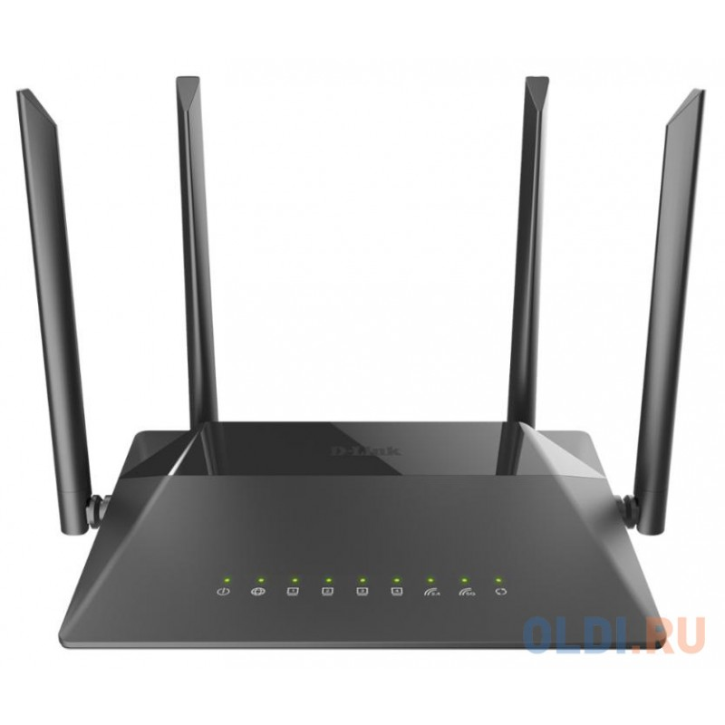 Wireless AC1200 Dual-Band Router with 1 10/100/1000Base-T WAN port and 4 10/100/1000Base-T LAN ports