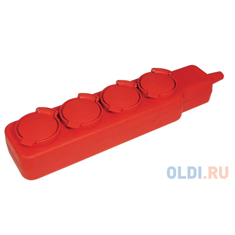 Iek WYP10-16-04-05-44-N Удлинитель  У04В 4 места с защитными крышками IP44 2 Р + P E /5метров 3х1мм2 16А/250В ИЭК