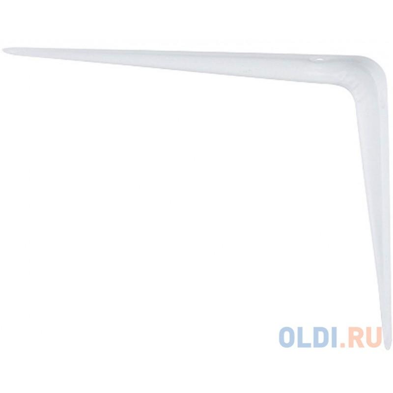 Кронштейн угловой с ребром, 150х200 мм, белый// Сибртех