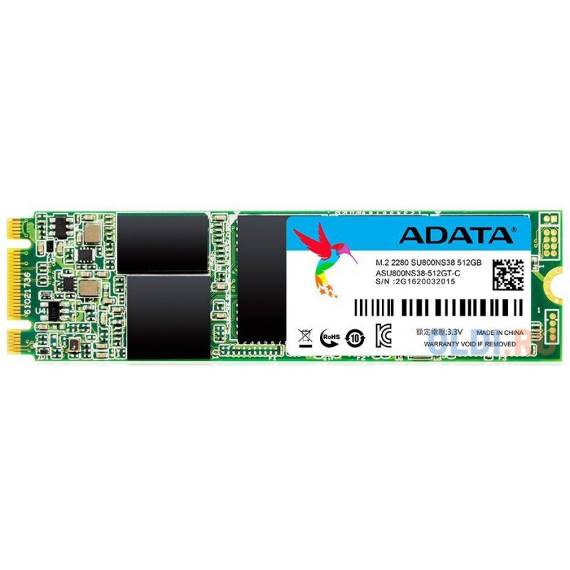 Твердотельный накопитель SSD M.2 512 Gb A-Data ASU800NS38-512GT-C Read 560Mb/s Write 520Mb/s TLC