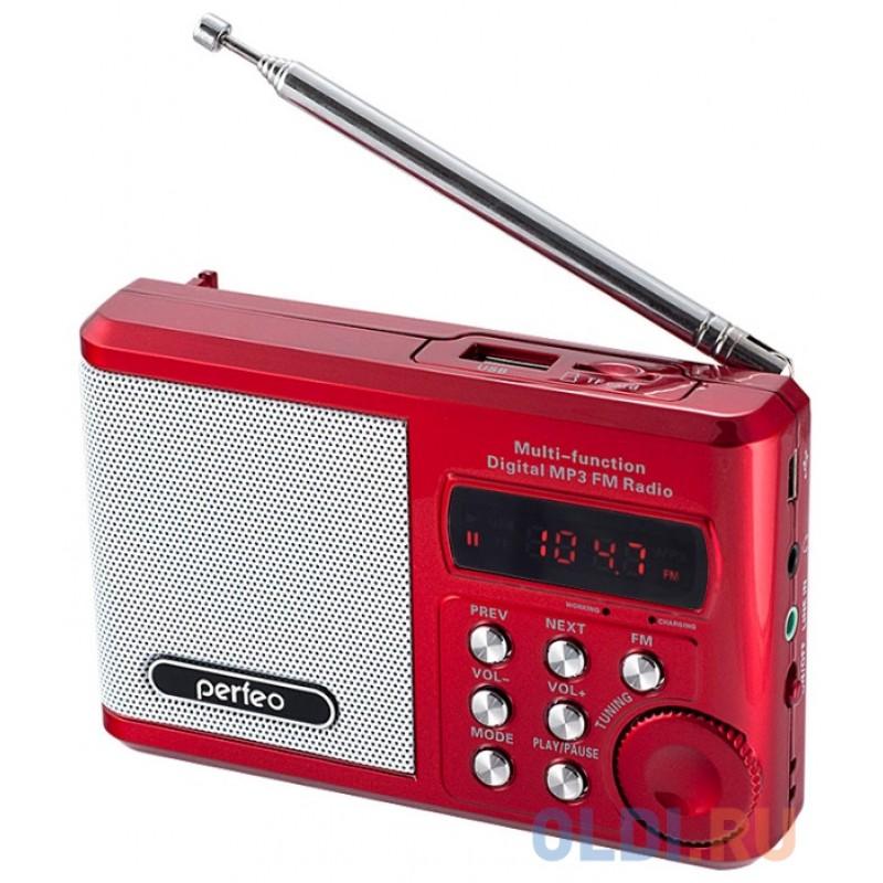 Мини аудио система Perfeo Sound Ranger 4 in 1  PF-SV922 красный