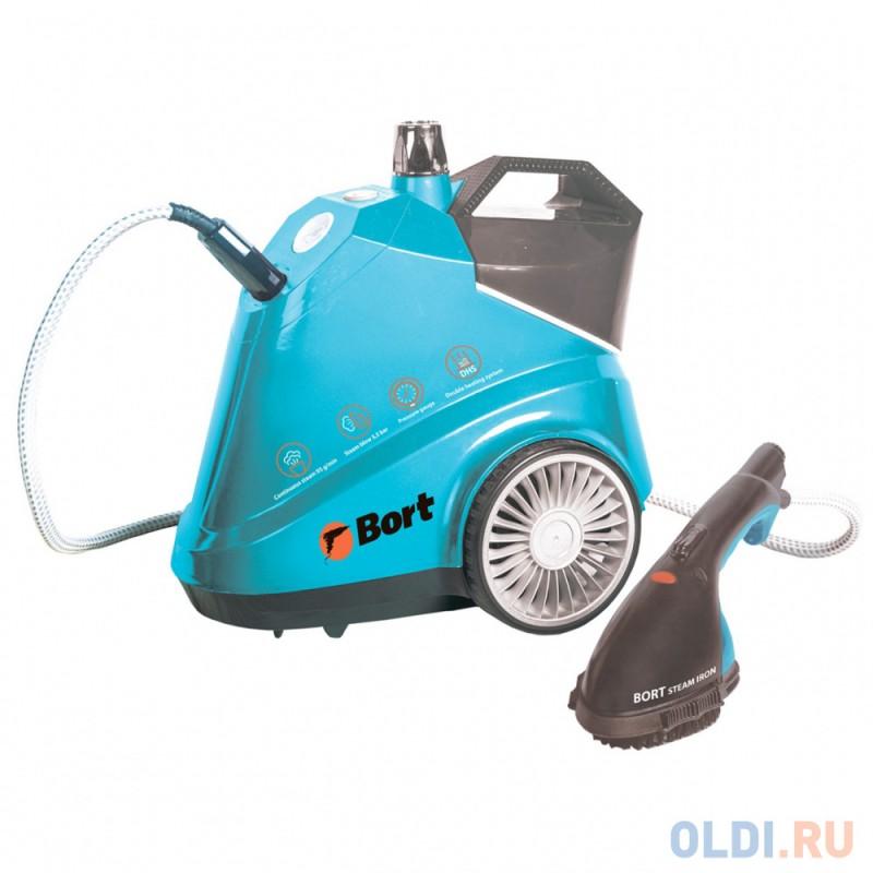 Отпариватель Bort Pro Iron, напольный для одежды, 2,5 кВт., давление 5.5 бар., пар 95 г/мин., t-пара 155 °С., бак 3.8 л.