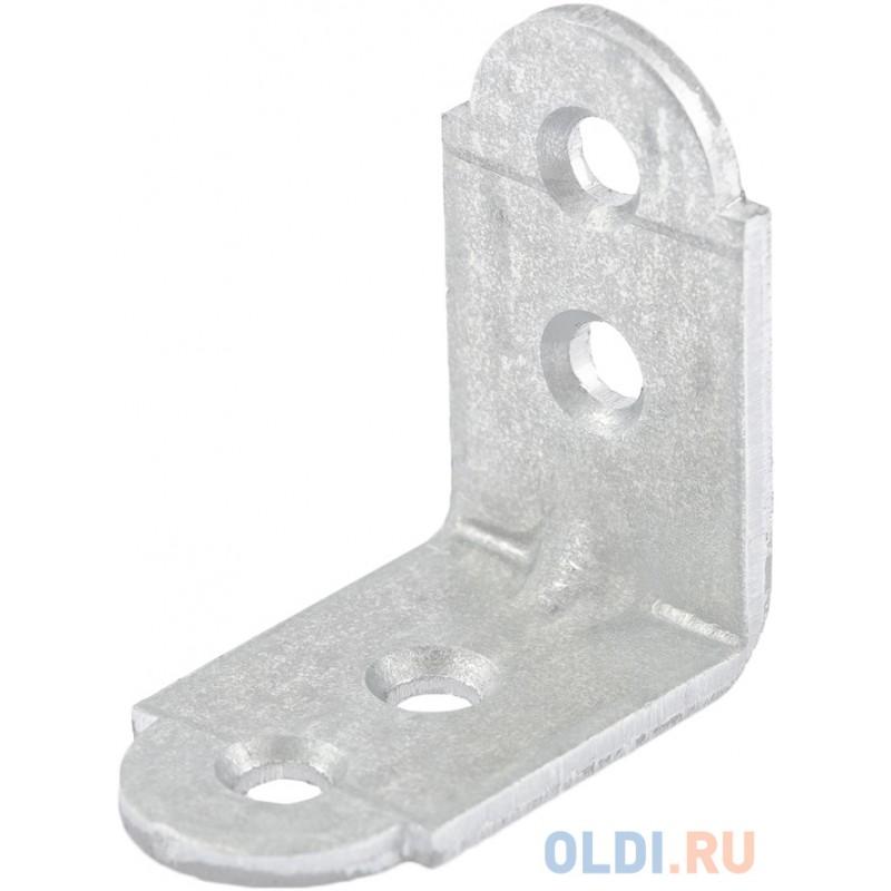 Уголок мебельный усиленный, 20х20х16 мм, цинк, Россия// Сибртех
