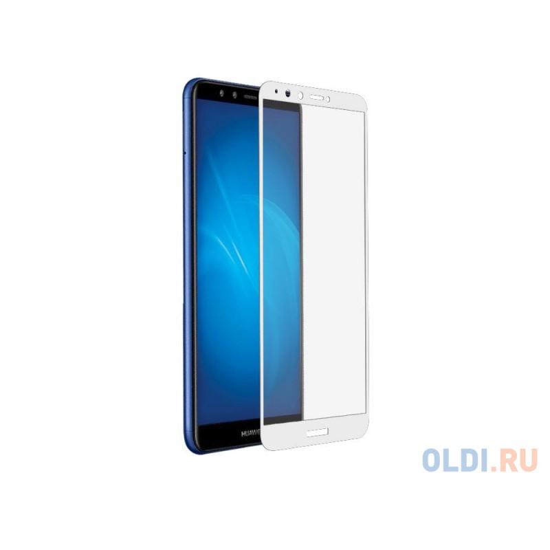 Закаленное стекло с цветной рамкой (fullscreen+fullglue) для Huawei Honor 7A Pro/Y6 (2018)/Honor 7C/Y6 Prime (2018) DF hwColor-54 (white)