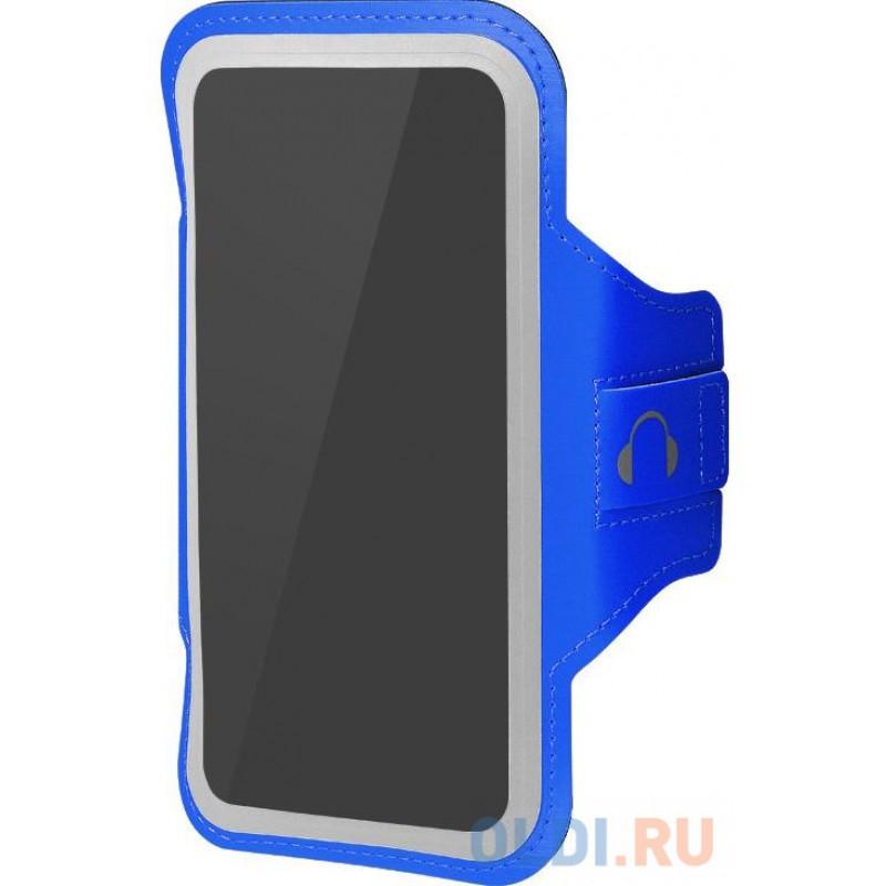 Чехол спортивный (неопрен+полиэстер) для смартфонов до 6.5 дюймов DF SportCase-04 (blue)