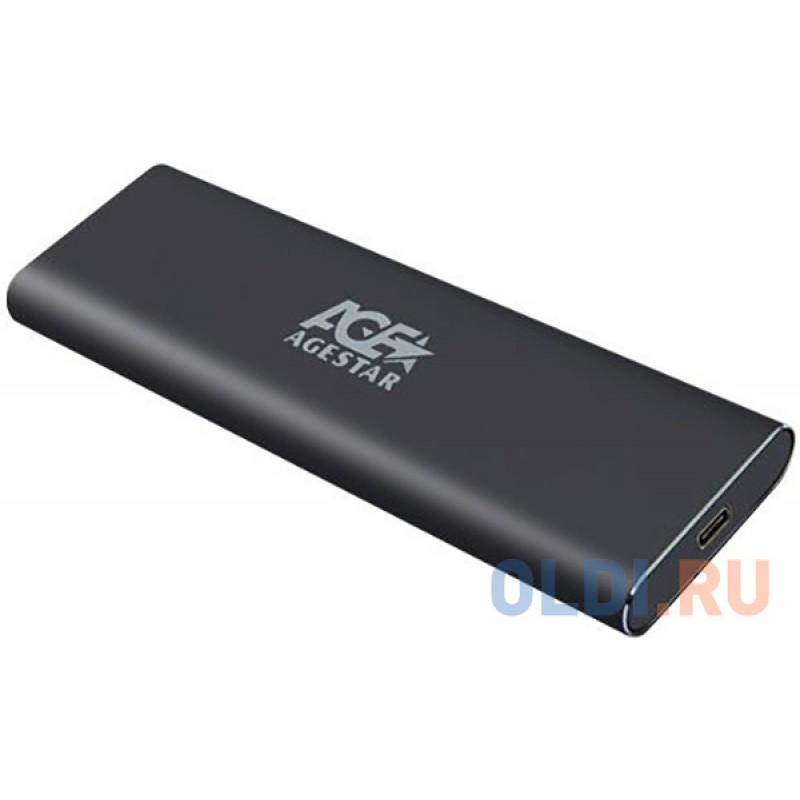 Внешний корпус SSD AgeStar 31UBNV1C m2 NVME 2280 M-key алюминий серый