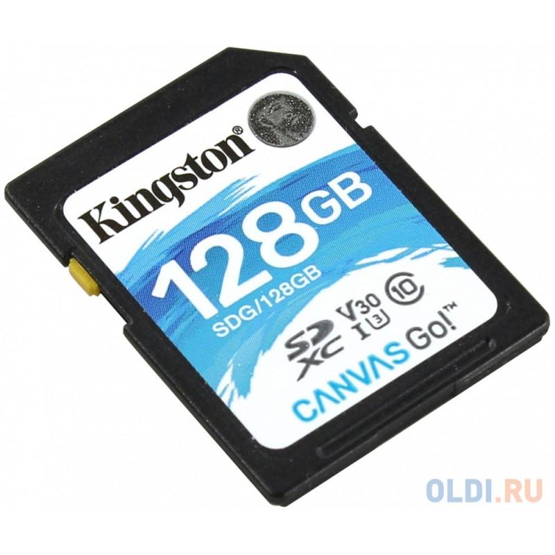 Флеш карта SDXC 128Gb Class10 Kingston SDG/128GB Canvas Go