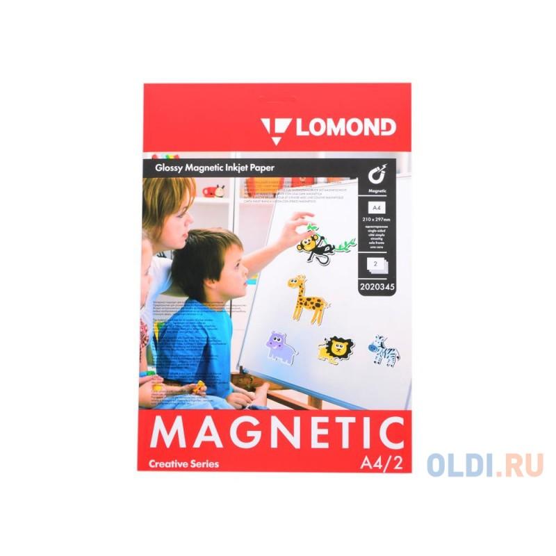 Фотобумага Lomond A4 660г/м2 глянцевая с магнитным слоем 2л 2020345