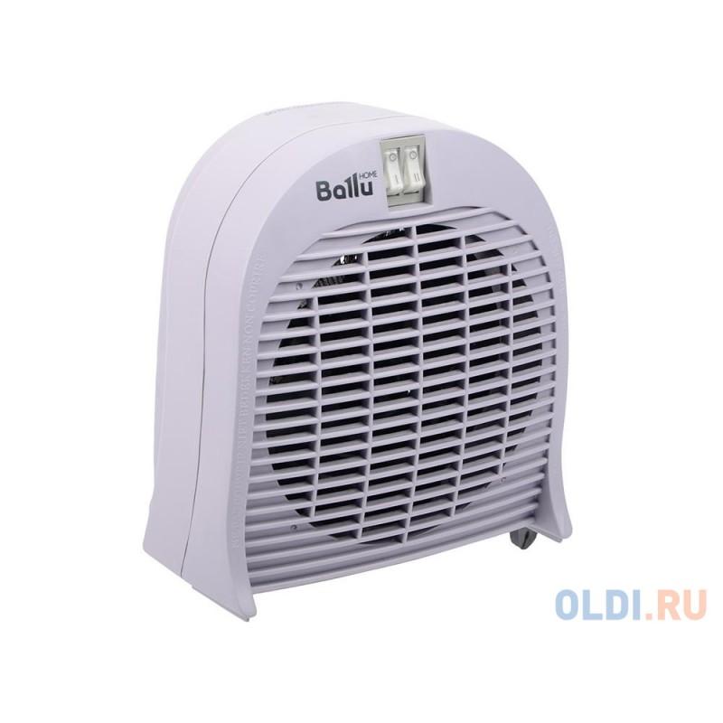 Тепловентилятор BALLU BFH/S-04 серый, спиральный, S-25 м?, 2 ступени мощности 1,0/2,0 кВт., защита от перегрева