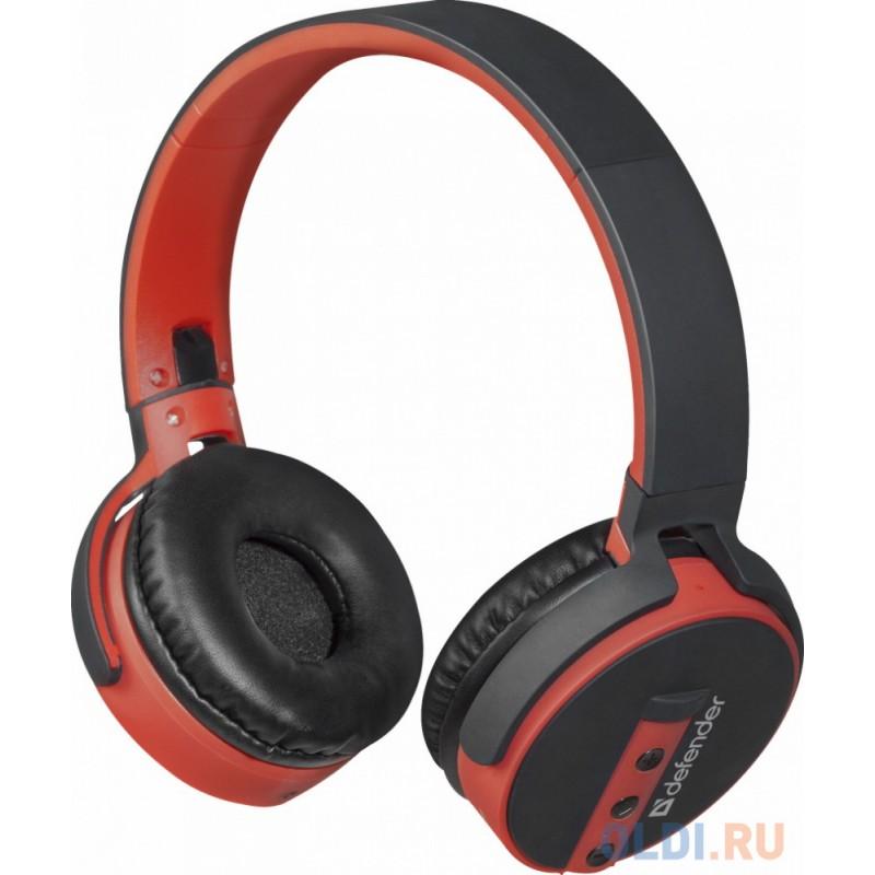 Гарнитура Defender FreeMotion B530 черный+красный, Bluetooth