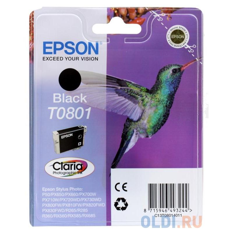 Картридж Epson Original T08014021 черный (black) 330 стр.