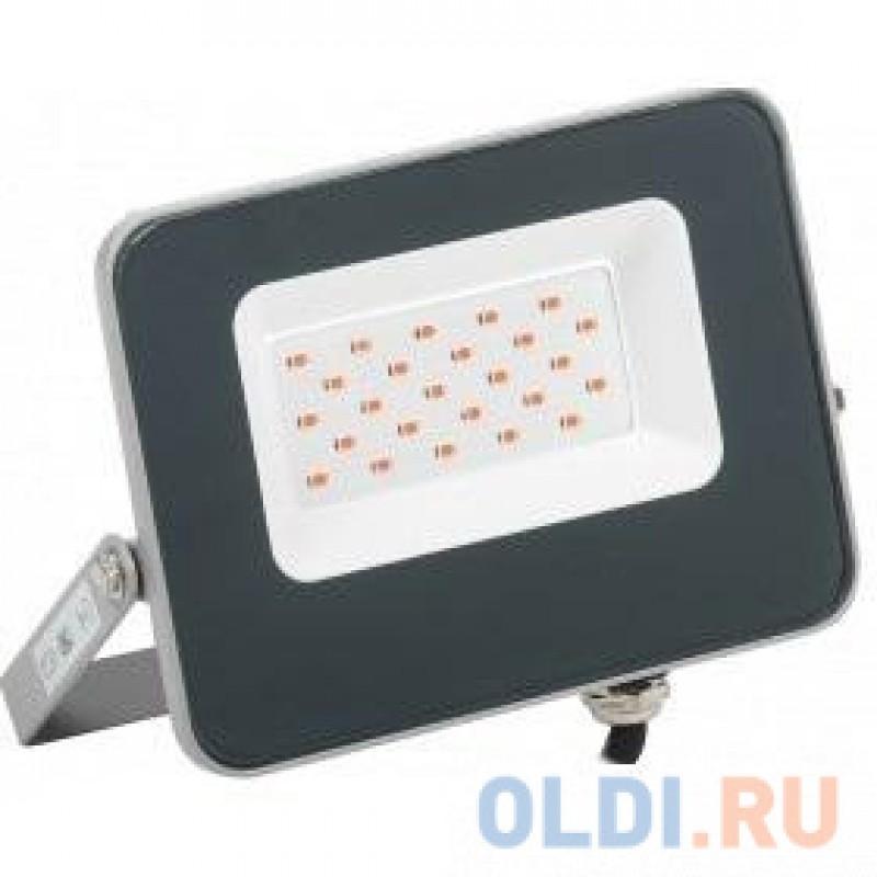 Iek LPDO7R-01-20-K03 Прожектор LED СДО 07-20R red КРАСНЫЙ IP65 серый