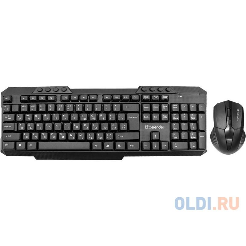 Беспроводной набор Клавиатура + Мышь  Jakarta C-805 RU, черный,полноразмерный DEFENDER