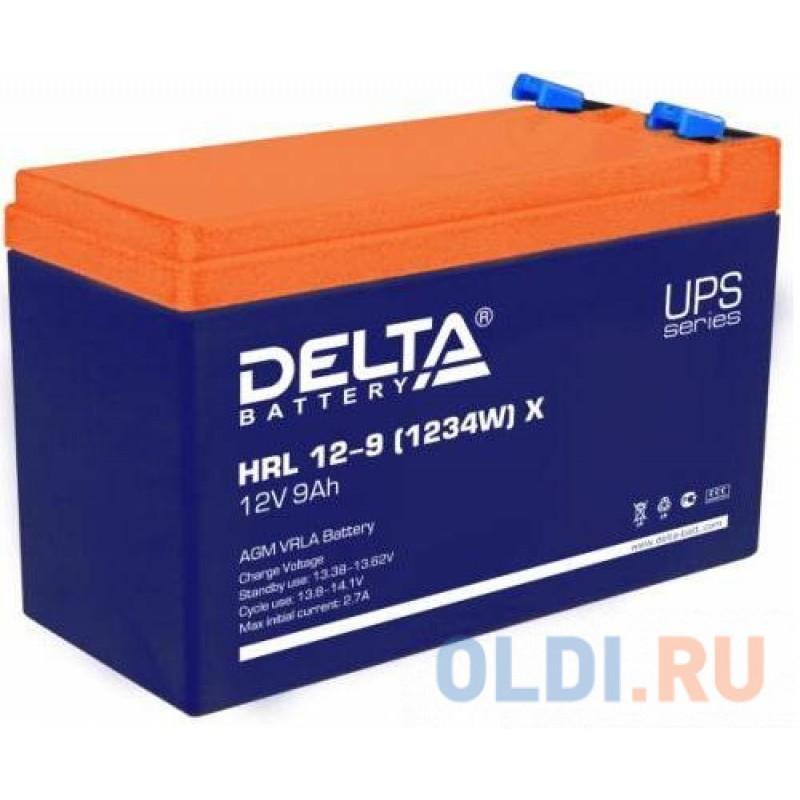 Батарея Delta HRL 12-9 X (9А\\ч, 12В) свинцово- кислотный 1234W