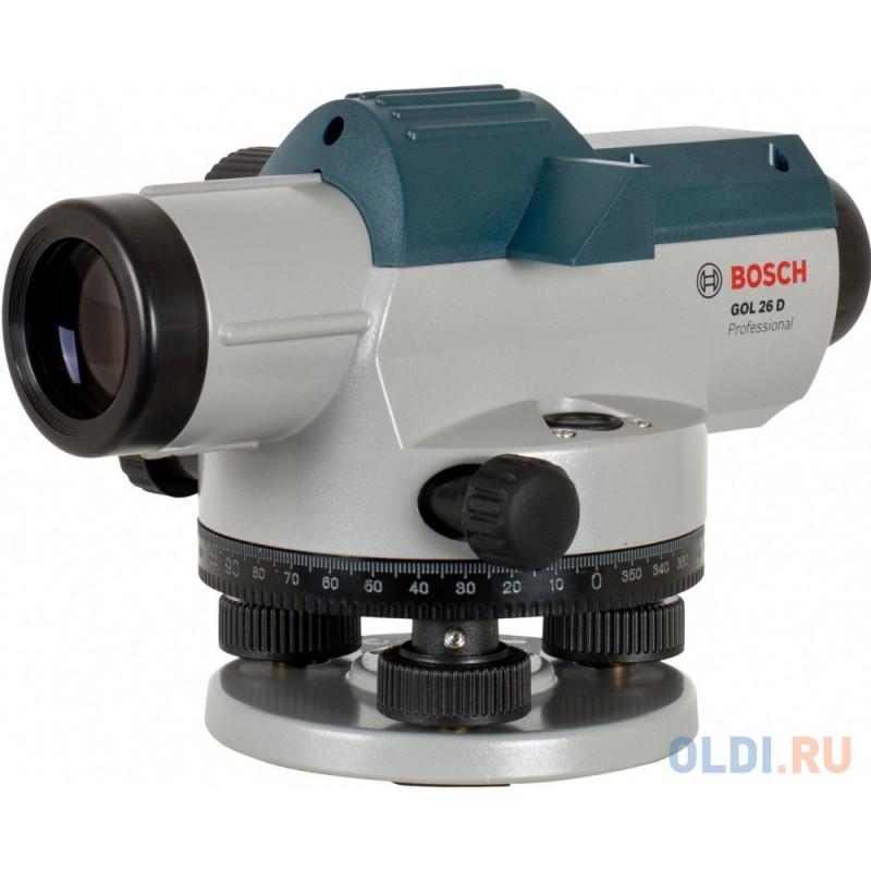 Нивелир оптический BOSCH GOL 26 D (0.601.068.000)  26x 100м ±0.05мм/м градусы, в кейсе