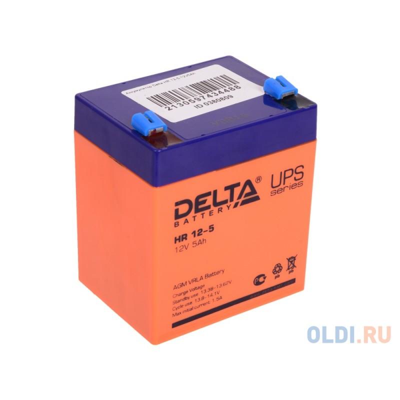 Аккумулятор Delta HR 12-5 12V5Ah
