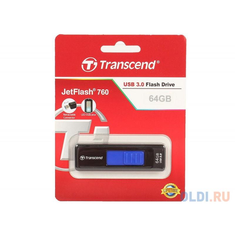 Внешний накопитель 64GB USB Drive <USB 3.0 Transcend 760 (TS64GJF760)