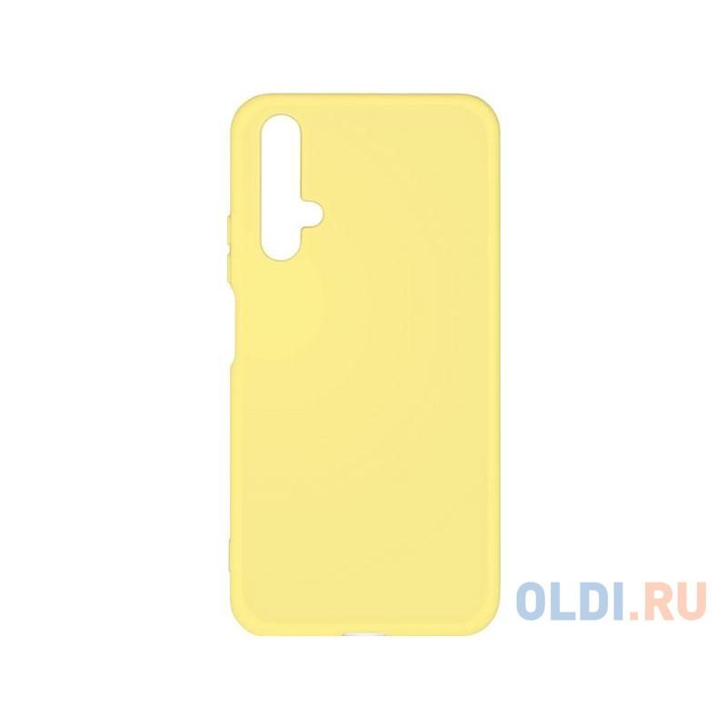 Силиконовый чехол с микрофиброй для Huawei Honor 20/ Nova 5T DF hwOriginal-01 (yellow)