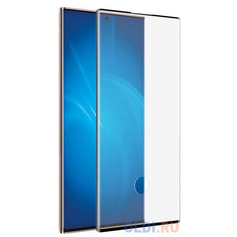 Закаленное стекло 3D с цветной рамкой (fullscreen+fullglue) для Samsung Galaxy Note 20 Ultra DF sColor-104 (black)