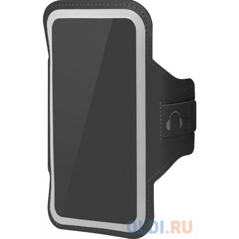 Чехол спортивный (неопрен+полиэстер) для смартфонов до 5.8 дюймов DF SportCase-03 (black)