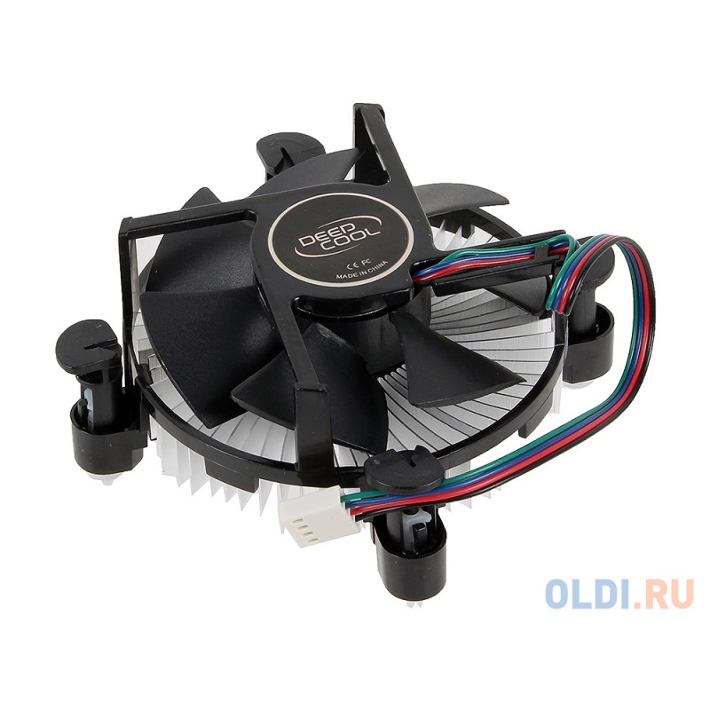 Кулер DeepCool CK-11509 PWM (LGA1150/51/55/56, TDP 65W, вент-р 92мм, 900~2400%RPM, 17.8~30.54dBa)