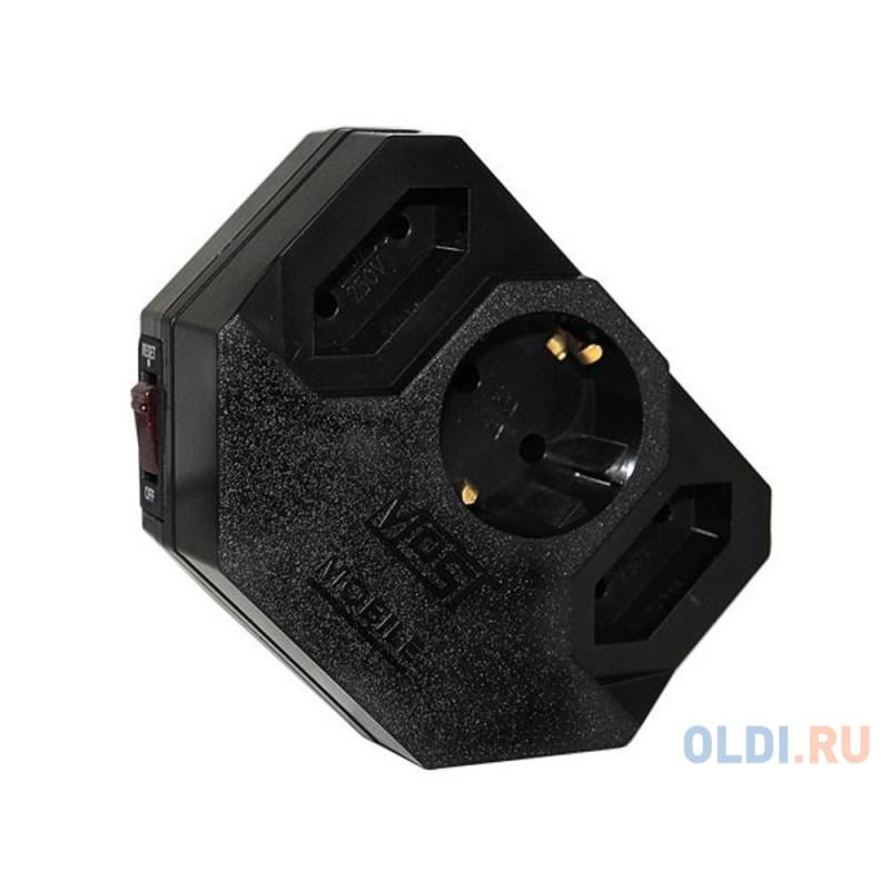 Сетевой фильтр MOST Mobile MRG 3 розетки черный