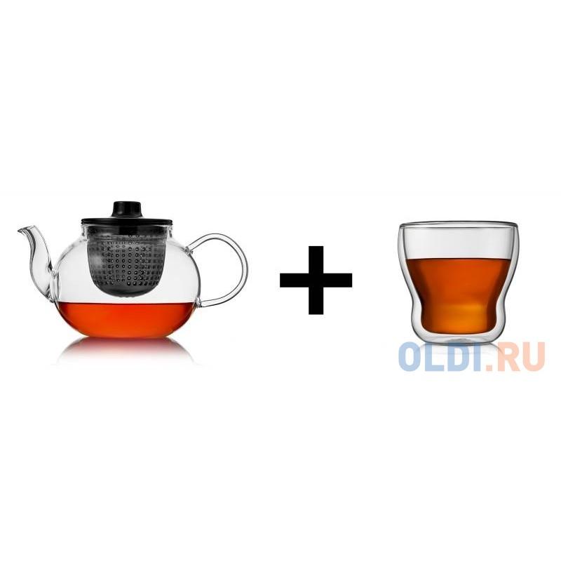 Набор: Термобокалы Cordial, 370мл+Чайник заварочный Tet-a-Tet, 800мл