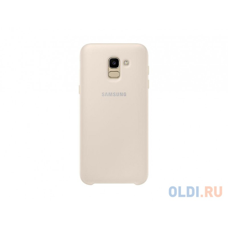 Чехол (клип-кейс) Samsung для Samsung Galaxy J6 (2018) Dual Layer Cover золотистый (EF-PJ600CFEGRU)