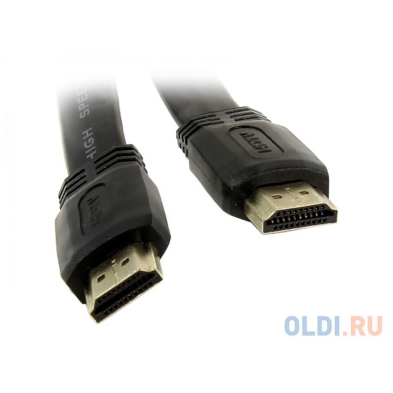 Кабель HDMI 19M/M 1.4V плоский 5m TV-COM <CG200F-5M
