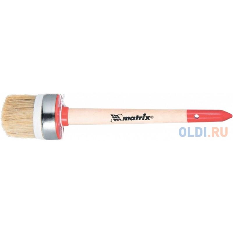 Кисть круглая MATRIX 82053  профи №16 (55 мм) натур. щетина деревянная руч.